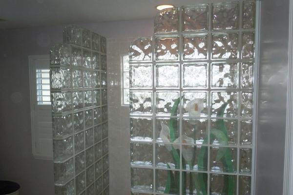 межкомнатные перегородки из стеклоблоков