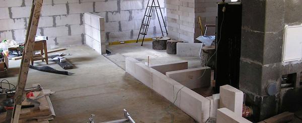 Межкомнатные перегородки из ячеистого бетона